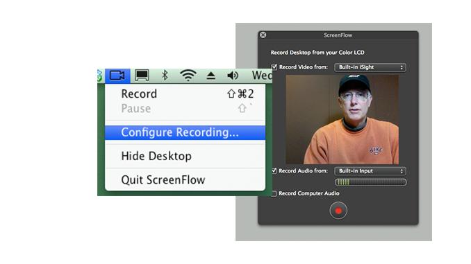The Configure Recording Box
