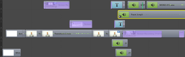 Adding Transitions to Short Clips in ScreenFlow