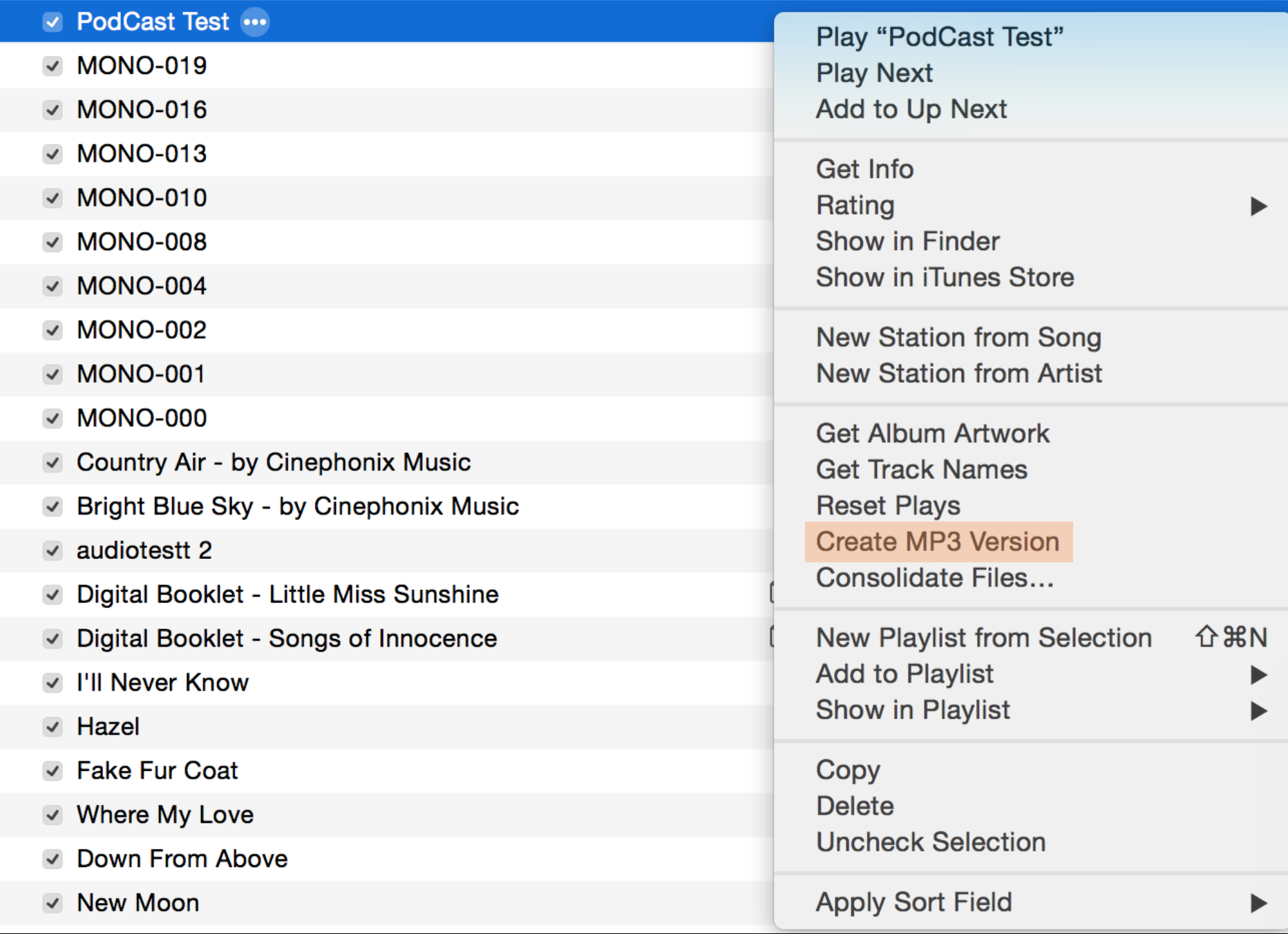 In iTunes